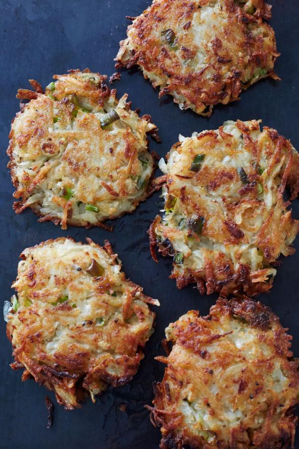 Root Vegetable Latkes with Old Country Sour Cream | CUESA
